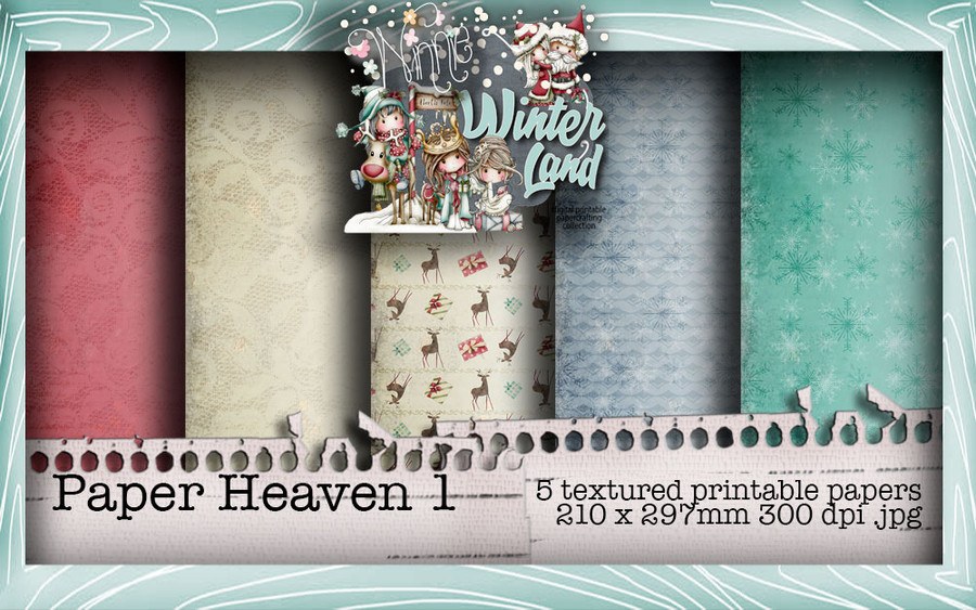 Winnie Winterland - Paper Heaven 1 digital craft papers download