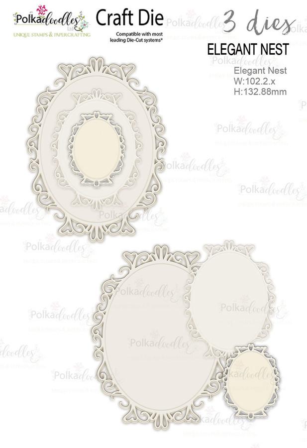 Elegant Nest - Set of 3 Craft Cutting dies