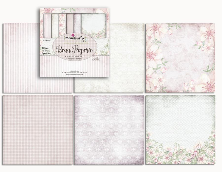 "Bella Fleur 6 x 6"" Paper Pad cards/scrapbooking"