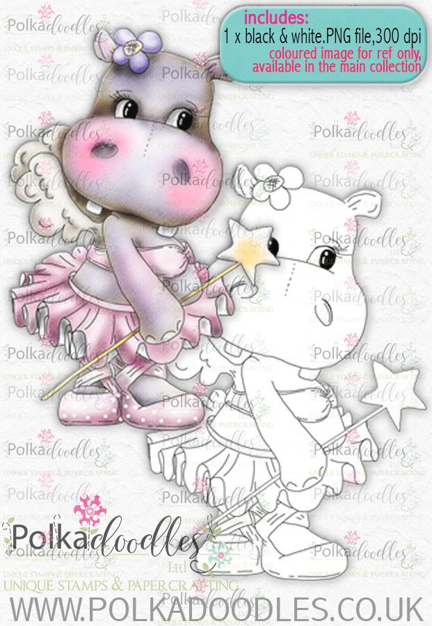 Helga Hippo - Fairy Princess - download digi stamp