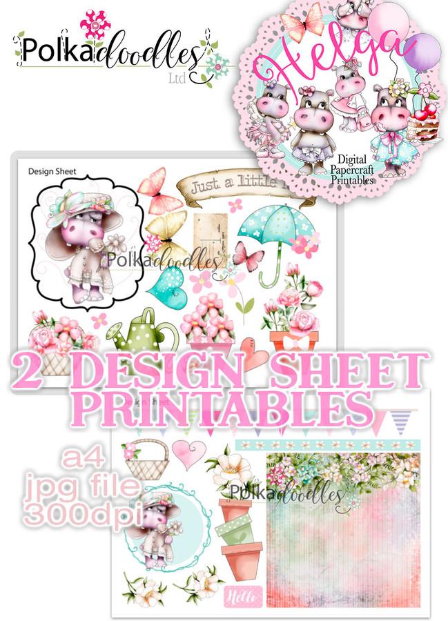 Helga Hippo - Design Sheet 2 Duo DOWNLOAD