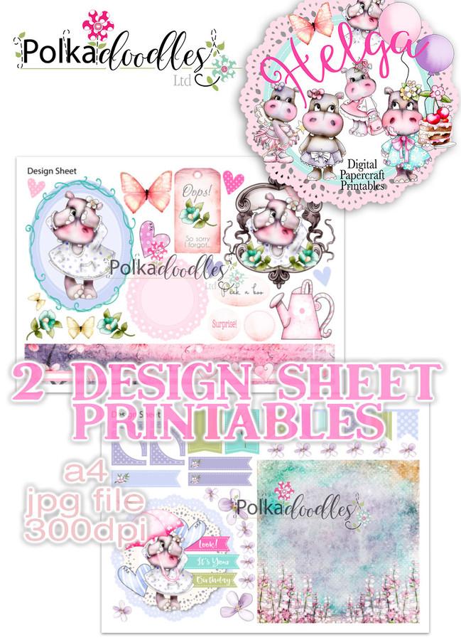 Helga Hippo - Design Sheet 9 Duo DOWNLOAD
