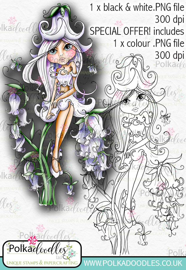 Bluebell, The Darling Buds - Digital Craft Digi Stamp DOWNLOAD