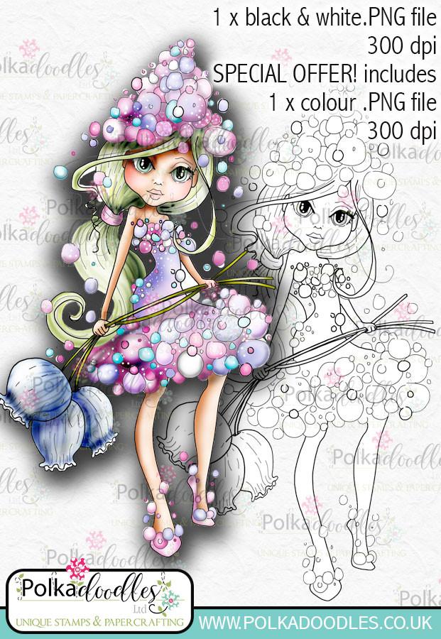 Hyacinth, The Darling Buds - Digital Craft Digi Stamp DOWNLOAD