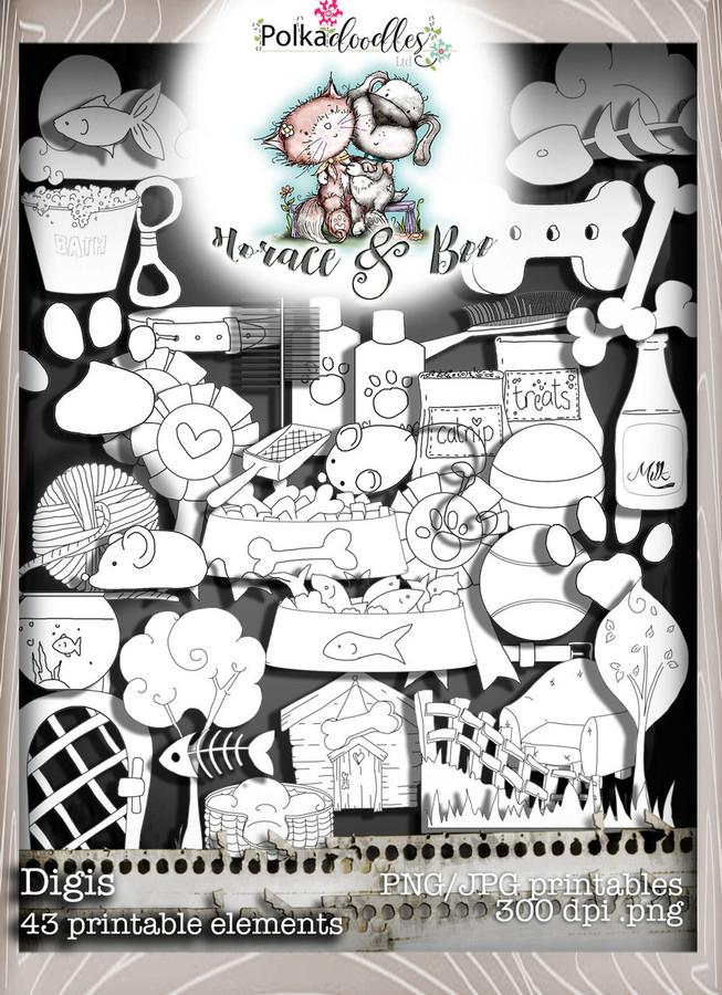 Digi Bundle - Horace & Boo download printable bundle