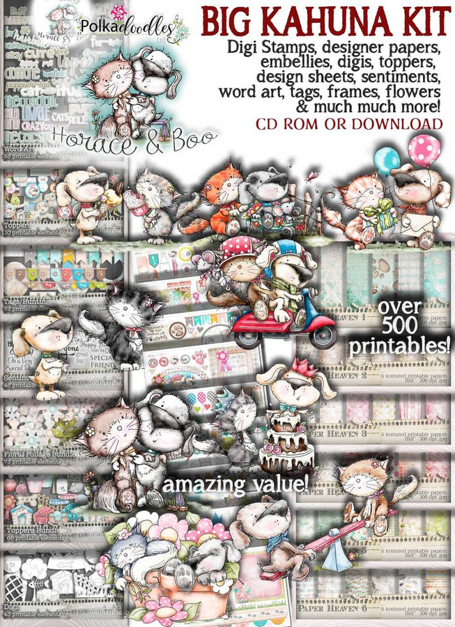 Horace & Boo BIG KAHUNA download printable craft bundle