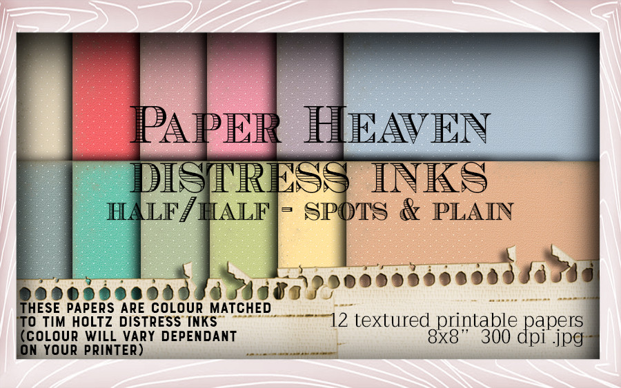 24 Distress ink swatched printable papers - Lil Miss Sugarpops Kit 1...Craft printable download digital stamps/digi scrap kit