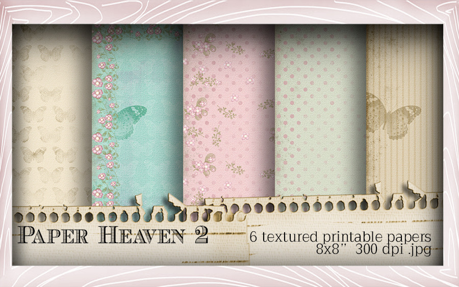 5 Printable Papers - Lil Miss Sugarpops Kit 1...Craft printable download digital stamps/digi scrap kit