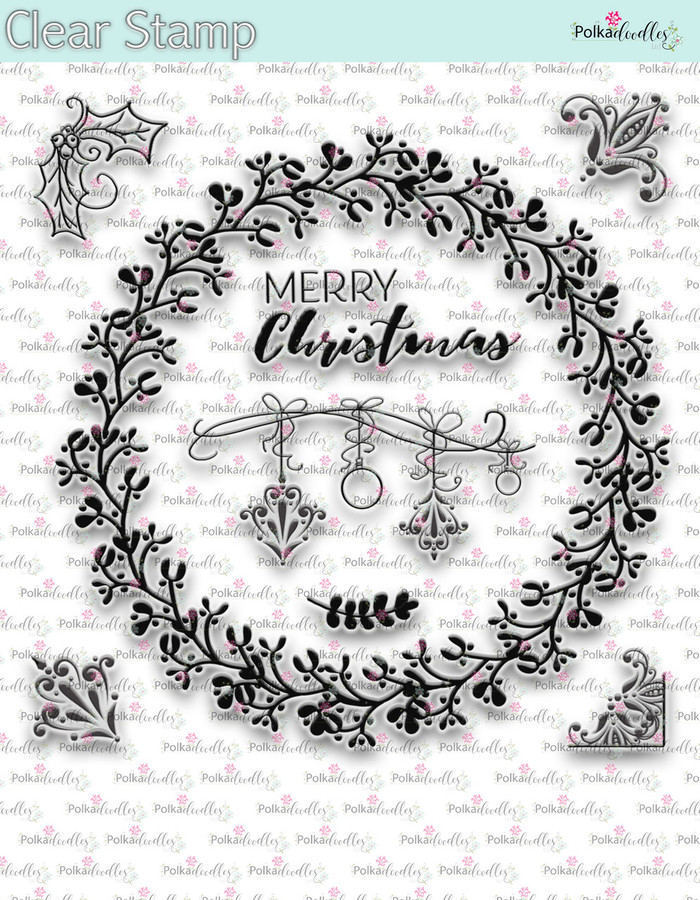 Christmas Wreath -  Clear Stamp Set