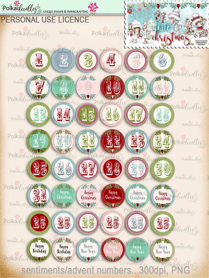 60+ Printable Christmas Sentiments - Winnie White Christmas...Craft printable download digital stamps/digi scrap