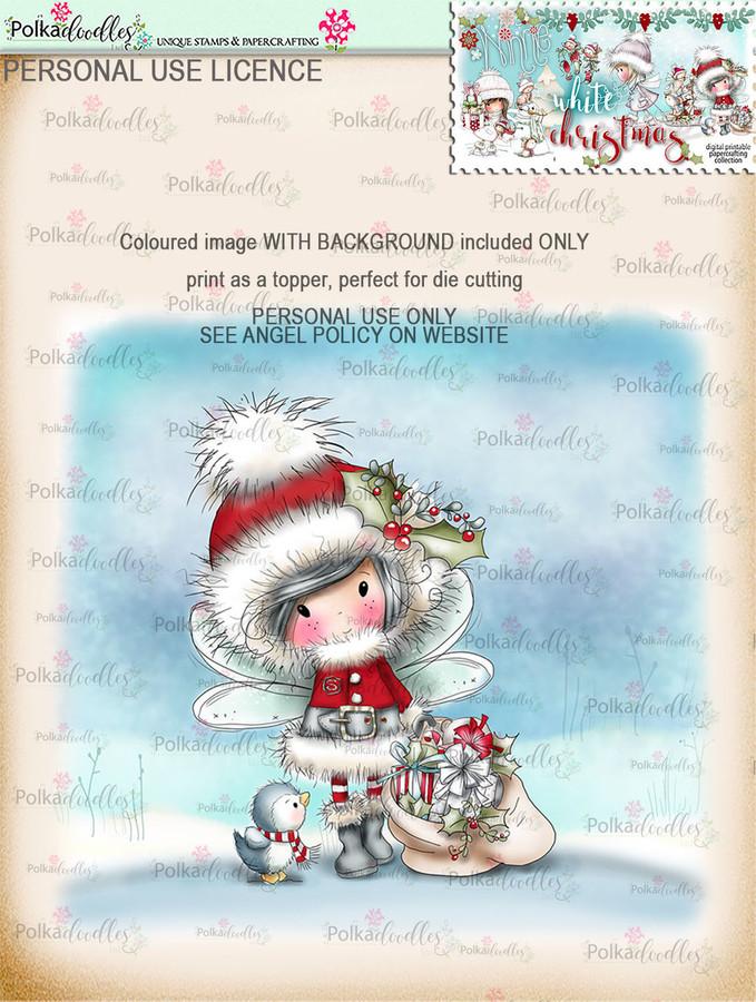 Santa Gifts - Coloured Digital Stamp download. Winnie White Christmas printables.Craft printable download digital stamps/digi scrap