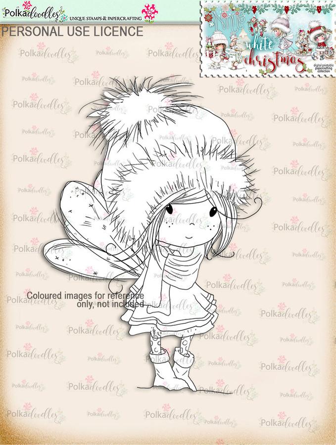 Winnie  - Digital Stamp download. Winnie White Christmas printables.Craft printable download digital stamps/digi scrap