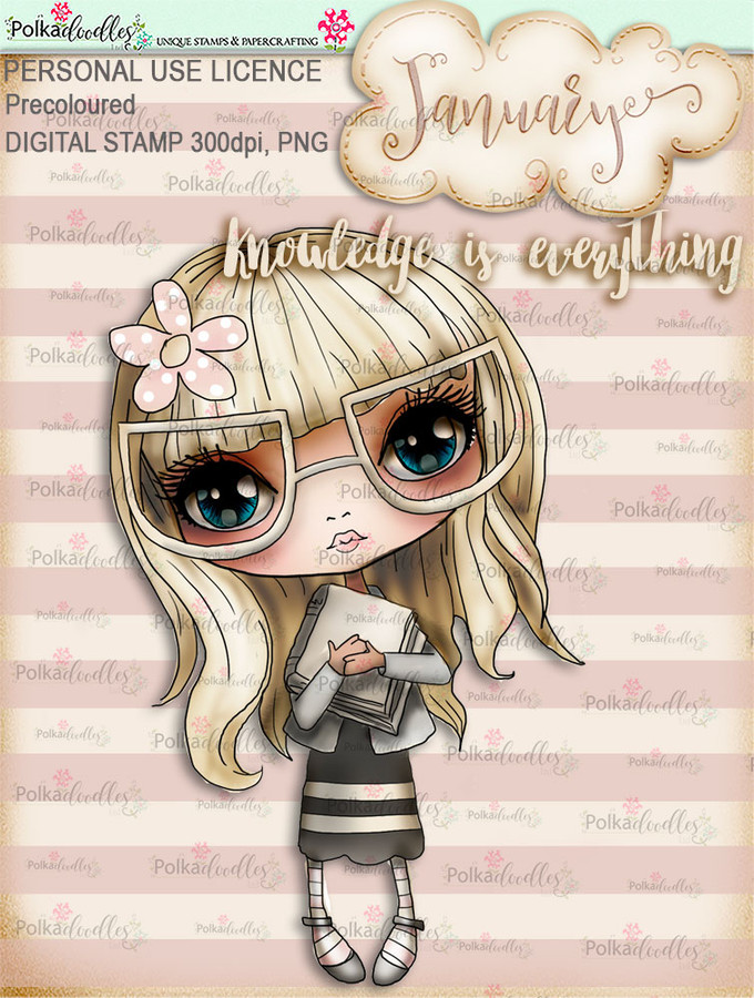 Knowledge is Everything - January. Craft digi download