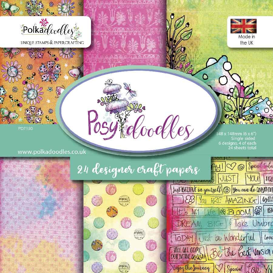 """6x6"""" Paper Twin Pack - Posy Doodles"""