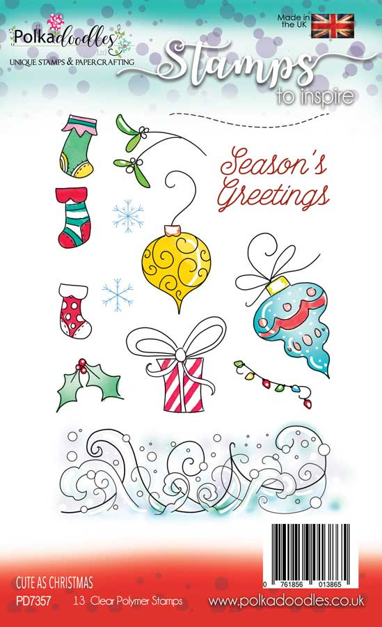 Cute as Christmas - Clear Polymer Stamp set