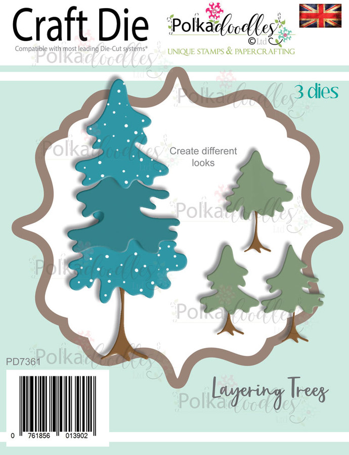 Layering Trees - Christmas holiday Craft cutting die