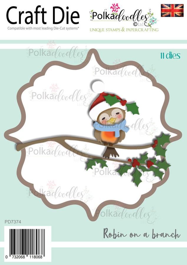 Robin on a Branch - Craft cutting die