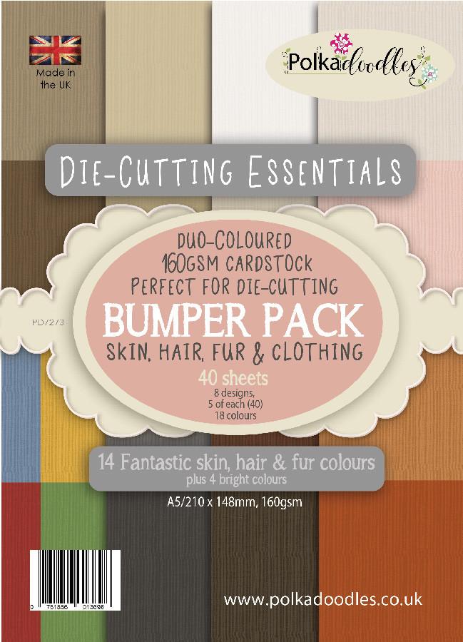 Die-cutting Essentials Fur/Hair/Skin Bumper A5 Paper Pack, 40 sheets
