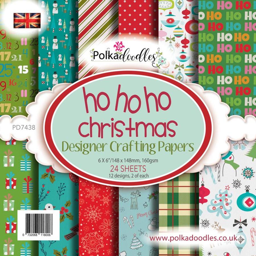 """Ho HO HO Christmas 6 x 6"""" Paper Pack"""