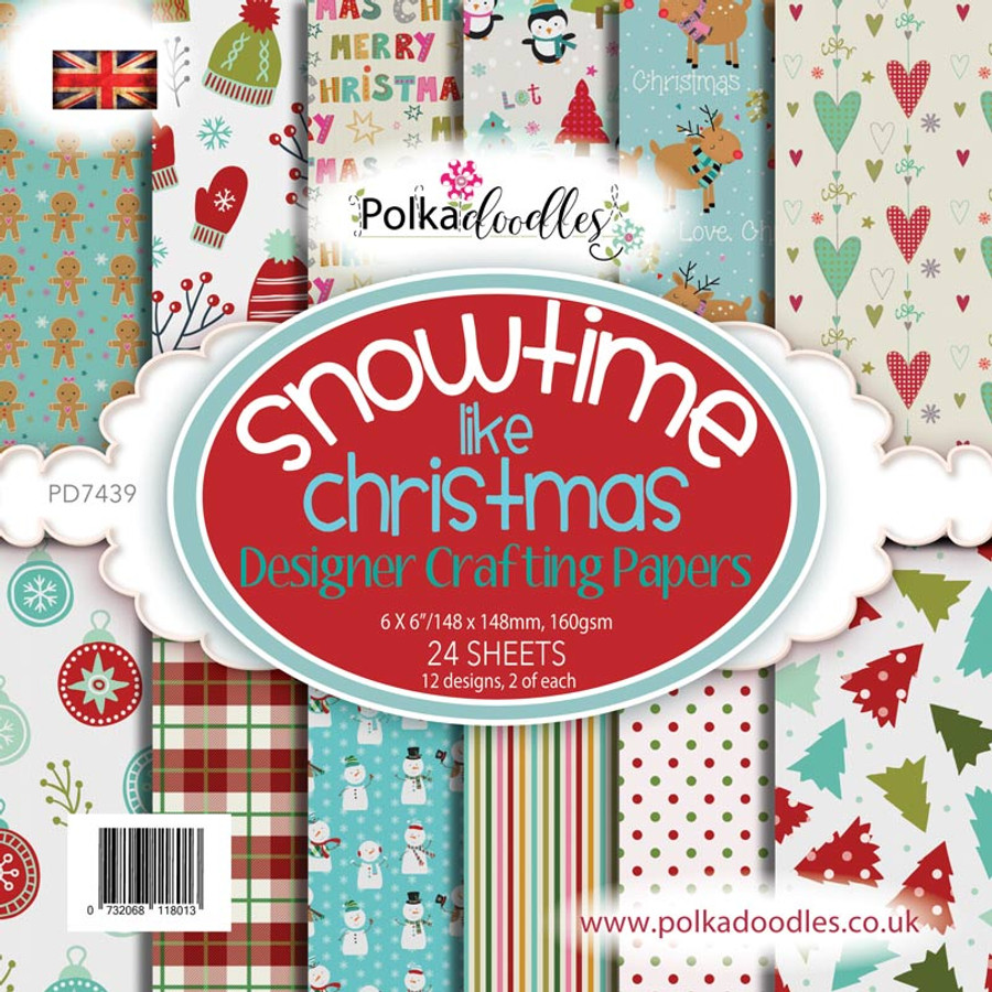 "Snowtime 6 x 6"" Paper Pack"