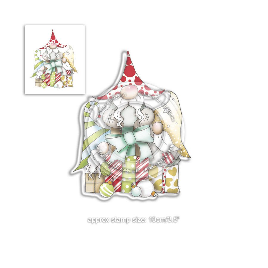 Gift of Christmas Gnome Clear Polymer Stamp