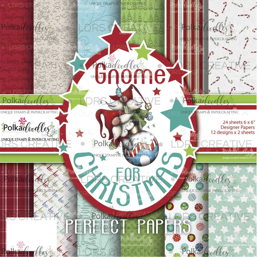 """Gnome for Christmas 6 x 6"""" paper pack"""