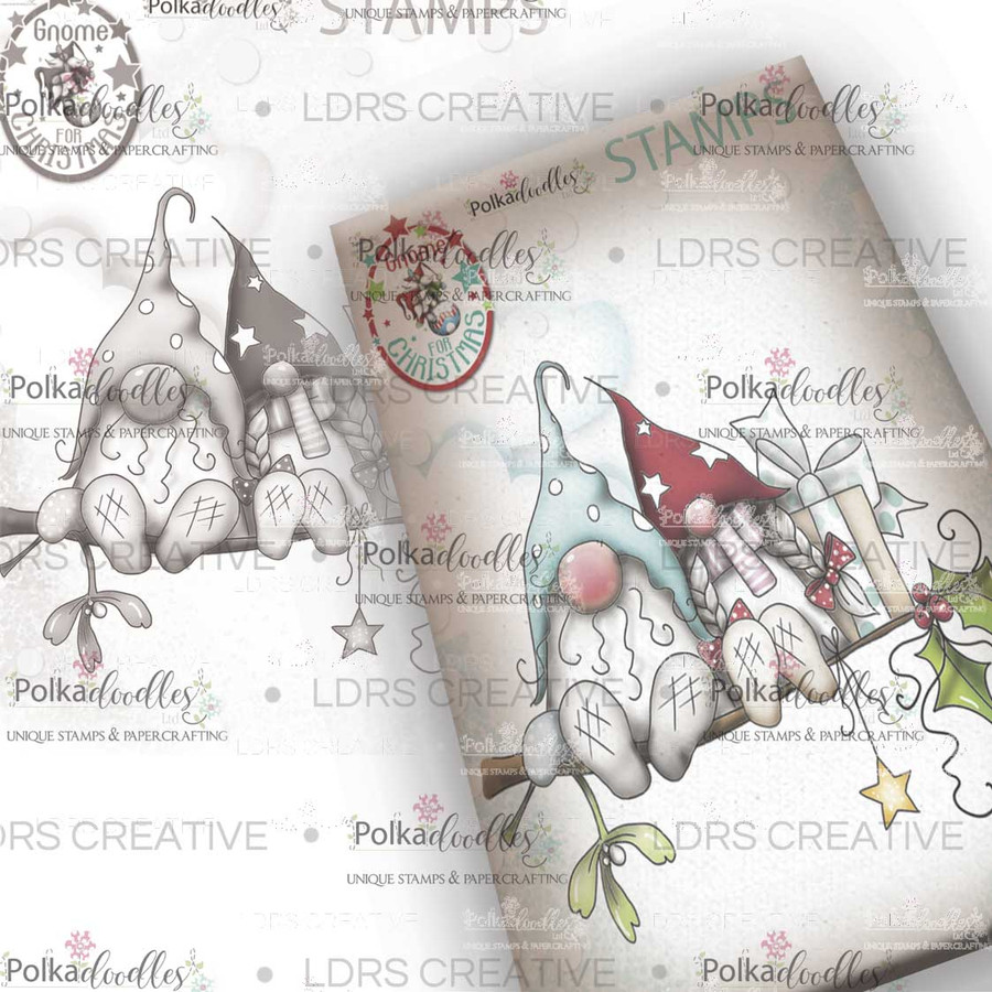 Christmas Love Grey Rubber Stamp