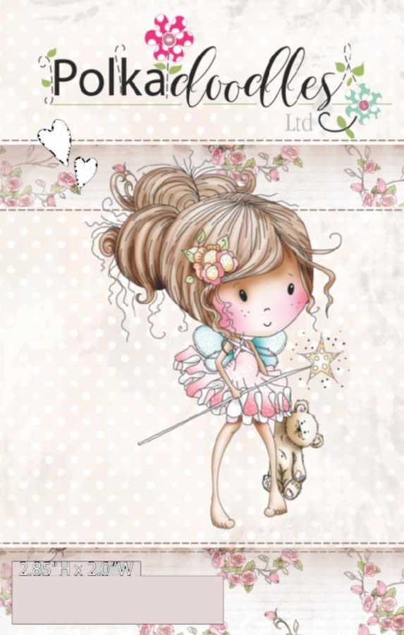 Winnie Fairy Sparkle - Rubber Stamp