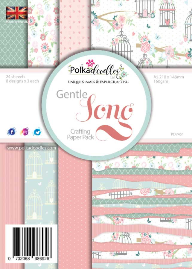 Polkadoodles 'Gentle Song' A5 paper pack