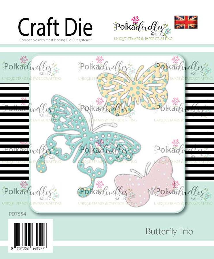 Butterfly Trio - 3 craft cutting dies