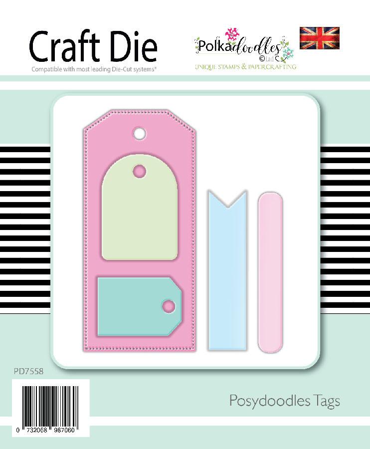 Posydoodles Basics - Tags dies