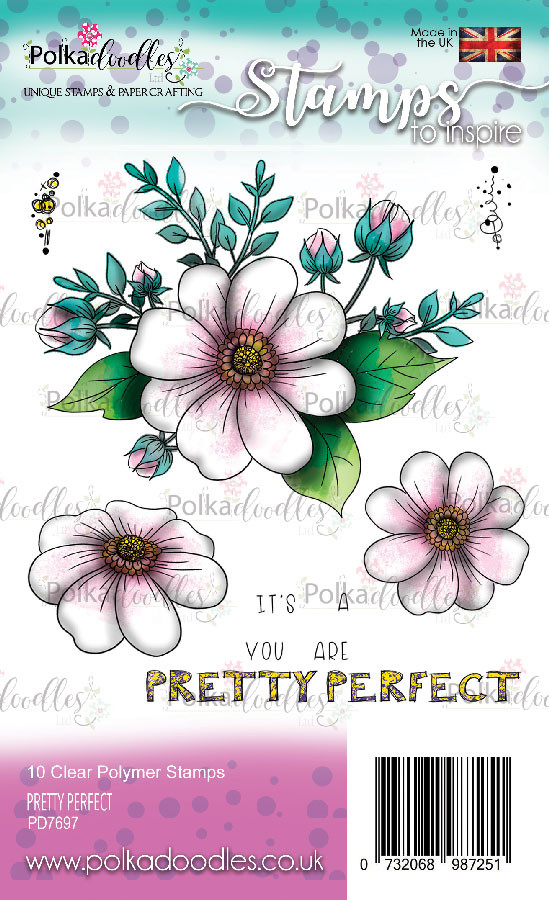 Pretty Perfect clear stamp set