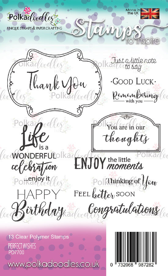 Perfect Wishes clear stamp set
