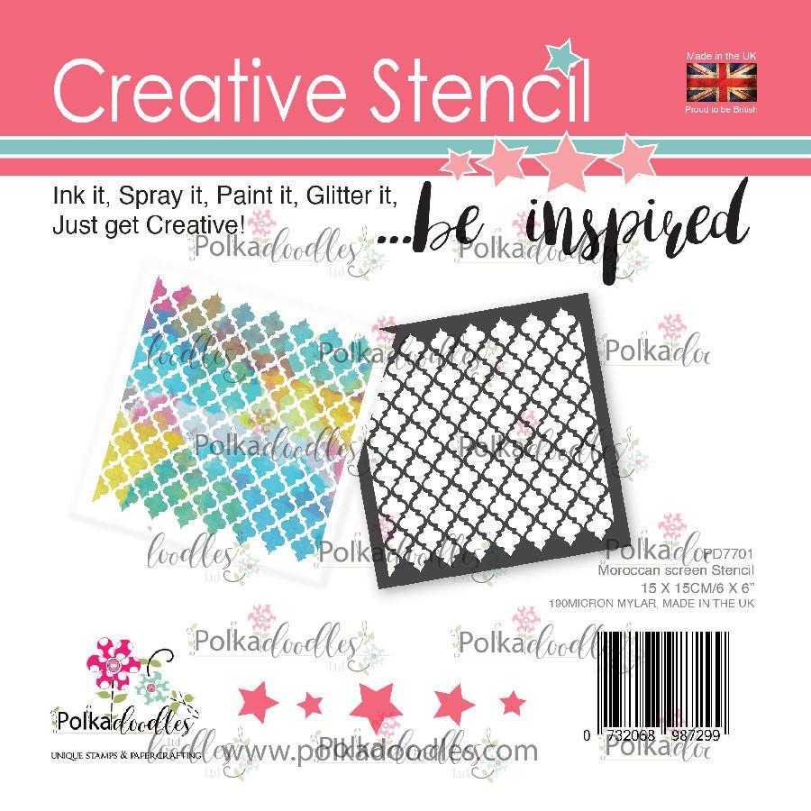 Moroccan screen - creative craft stencil