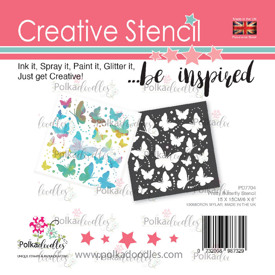 Pretty Butterfly creative craft stencil
