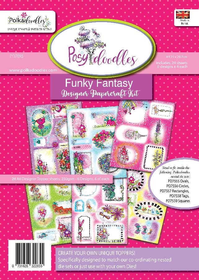 Funky Fantasy A4 Paper Topper Collection