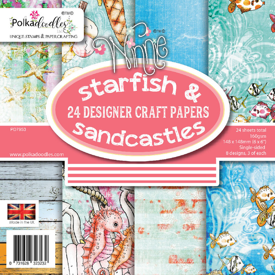 "Starfish & Sandcastles 6 x 6"" paper pack"