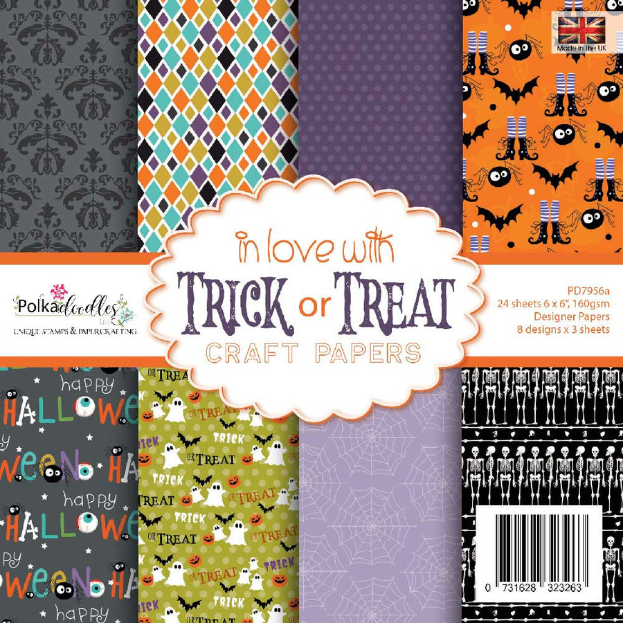 "in love with TRICK or TREAT 6 x 6"" paper pack"