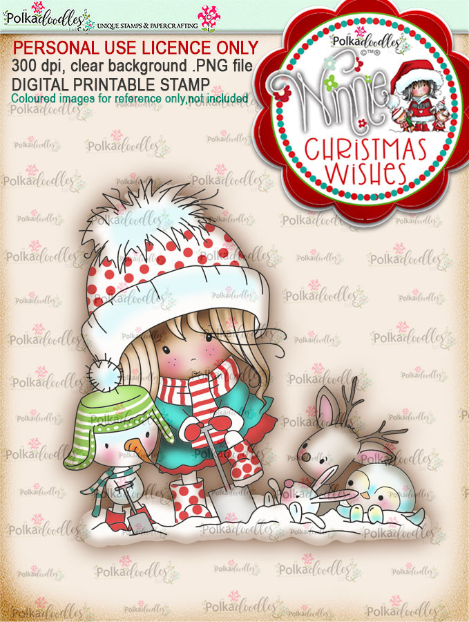 Helping Hands (colour) - Winnie Christmas Wishes digi scrap printable download