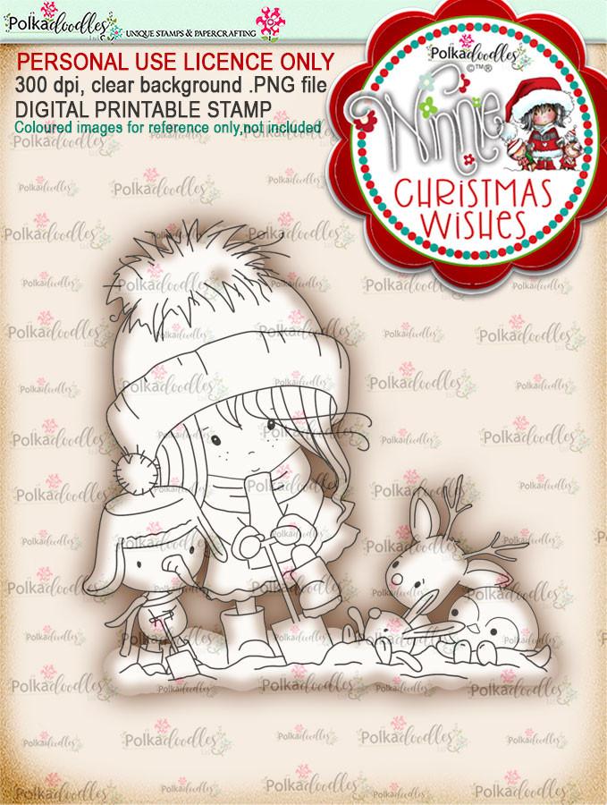 Helping Hands - Winnie Christmas Wishes digi scrap printable download