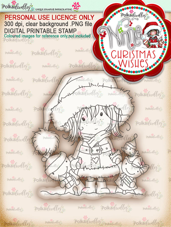 Delivery Time - Winnie Christmas Wishes digi scrap printable download