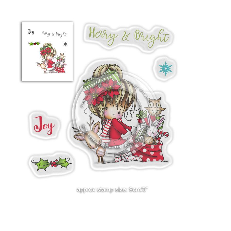 Merry & Bright -  Winnie Winter Wishes - CLEAR POLYMER STAMP