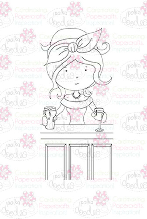 Landlady/Barmaid digital stamp download