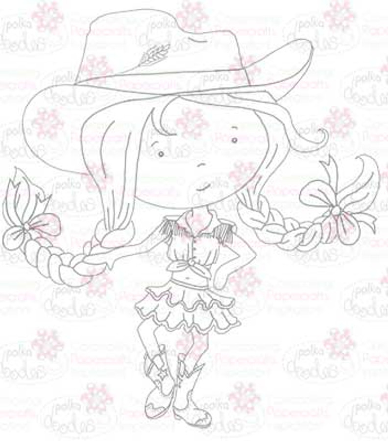 Cowgirl/line dance digital stamp download