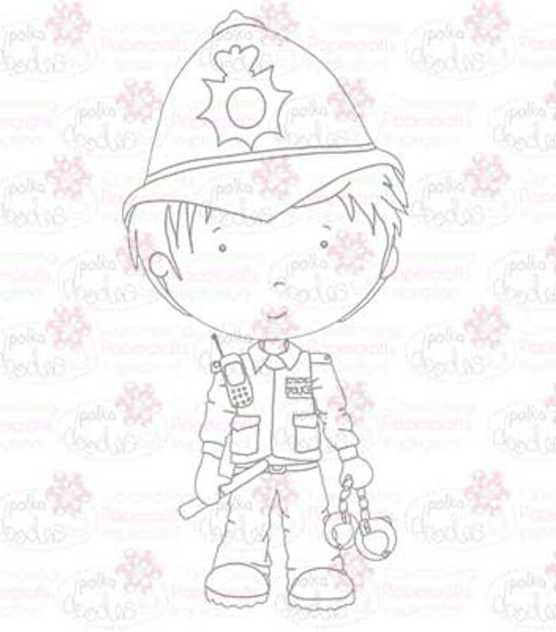 Policeman digital stamp download