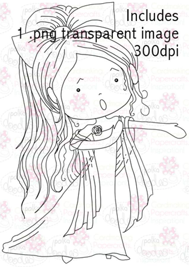 Opera Singer Girl digital stamp download