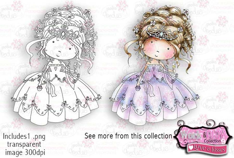 Princess/Bride Digital Craft Stamp download