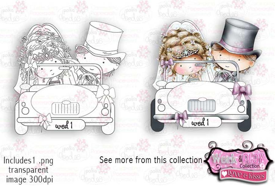 Wedding Car Digital Craft Stamp download