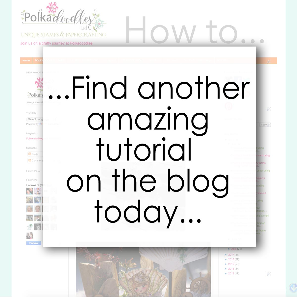 Visit the Polkadoodles blog for amazing tutorials