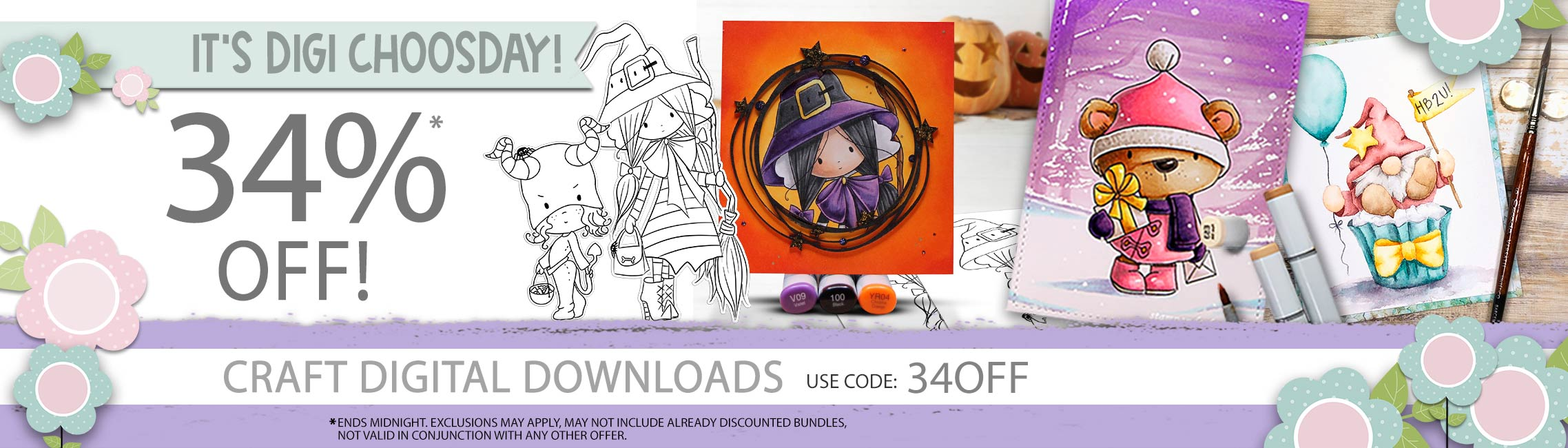 Save 34% on printable downloads in today's sale - ends midnight use code 34OFF